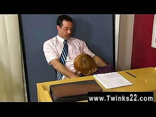 Hot gay teacher mike manchester is working late but he s got his
