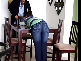 Teen spanking for making noise