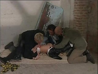 Blonde kidnapped by 3 guys and Forced to sex italian