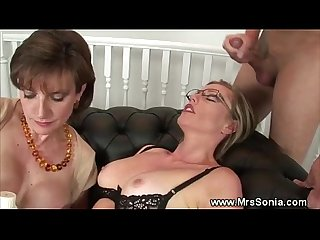 Cuckolds wifes kinky threesome