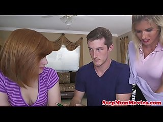 Seductive stepmom doggystyled by teens bf