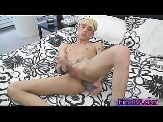 Teen homo emo stuffing his ass with dildo 10 by emobf