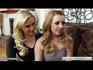 Beauty blondes lexi belle and mia malkova sharing a big cock