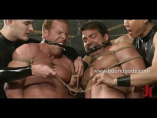 Vince and Derek are connected by the butterfly tit clamps