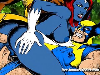 X-Men super heroes parody orgy