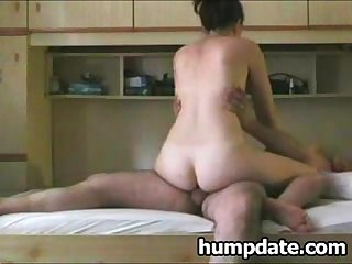 Horny wife rides cock and gets hard doggystyled