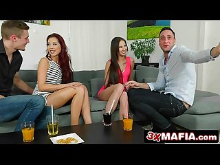 Two smoking hot euro babes in a swingers party Selena mur comma christy charming