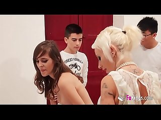 Fakings school gina gives ainara and jordi an anatomy lesson