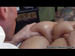 Real masseur fingering hairy pussy