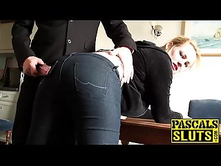 Like all good chicks Amber West cherish a good ass spanking