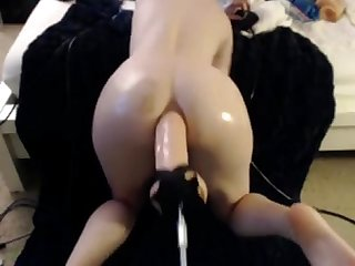 Teen take a huge dildo in her ass - camparadise.net