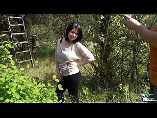 Myfirstpublic cute curvy teen titty fucking in the field