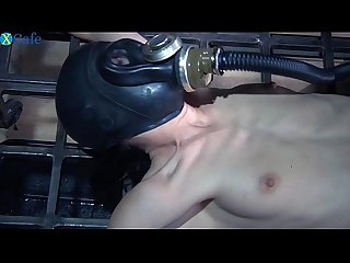 One perverted couple tortures restrained bitch in gas muzzle elise graves hard Mobile sex