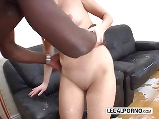 Two horny babes enjoying milk and A big black cock mj 3 01