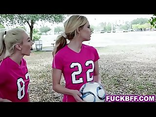 Soccer coed teens picked up after practise and fucked