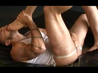 Hot jock totally dominates hairy dad