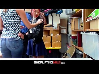 Petite Asian MILF Stepmom Christy Love Has Sex With Guard In Front Of Shoplifting Asian..