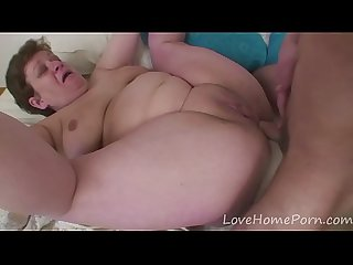 Mature bbw gets fucked by a younger guy