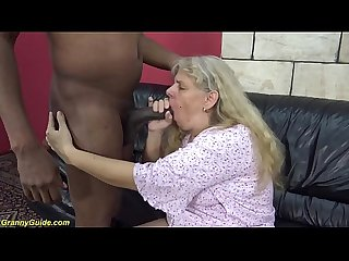 first time interracial fuck for 71 years old granny