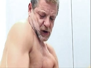 Young jock gets ass fucked by mature older guy