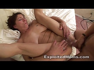 Mom takes a black cock 1st time on video in amateur interracial video