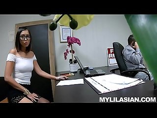 Lexi Mansfield Asian Job Interview Jizz