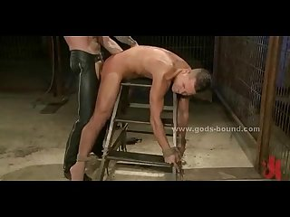 Men bound in deposit get used as sexual toys in rough bondage slavery sex