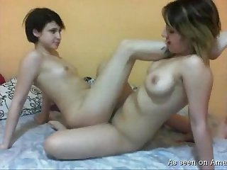 Naked lesbos play with each other