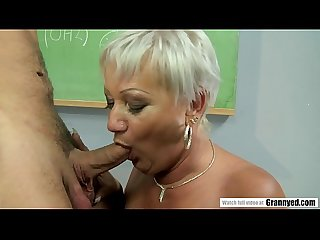Pervert student fucks mature teacher