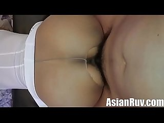 AsianRuv-Creamy asian spilling cum