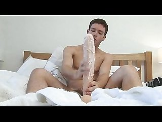 Huge dildo for hungry boy
