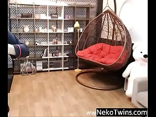 Korean Girl Strip Teasing on Cam - NekoTwins.com