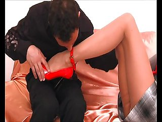 Russian slut milf bj and creampie