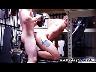 Straight white men naked gay porn Dungeon tormentor with a gimp