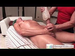 Troy is gettin his dick massaged with a fleshlight by massagevictim