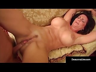 Big busty milf deauxma fucks young stud as hubby watches