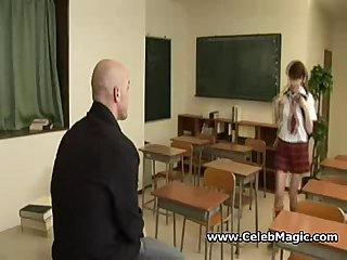Asian school Girl fucking for punishment
