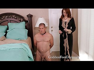 Foot slave s nightly routine female domination footslave