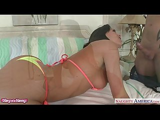 Tanned nanny rahyndee james gets fucked