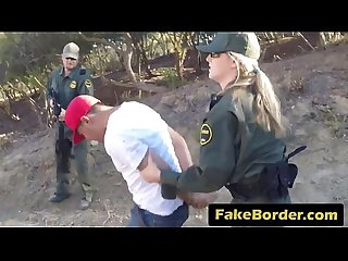 Two teen smugglers caught on border and banged hard by an agent