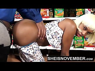 Pornstar sheisnovember big Ass Doggystyle big tits biting cock in walmart Hd