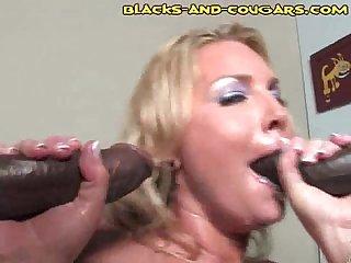 Cougar fucks black