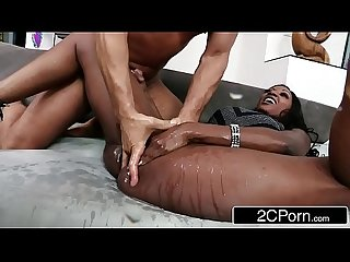 Horny Millionaire Diamond Jackson Squirting on a Male Escort's Cock