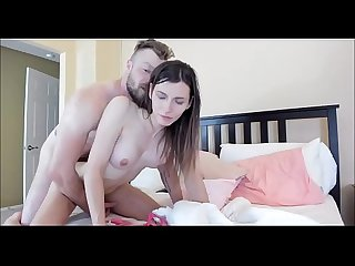 Taking Care Of A Brunette Tranny's Ass