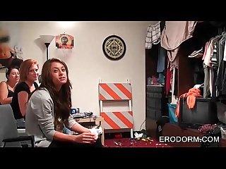 College sluts getting wild in dorm room orgy