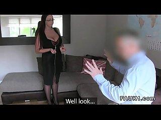 Massive tittied brith bangs in casting