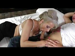 Silver hair mature fucks young boy