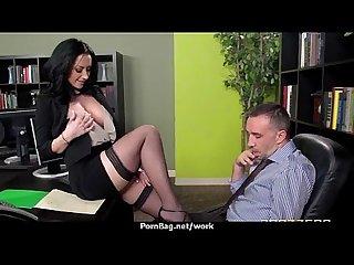 Sexy wild milf loves rough sex at work 14
