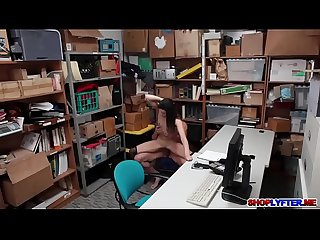 Amateur shoplifter eden Sin punished for sex