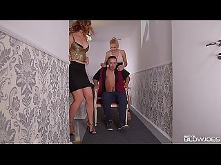 Best of Blowjobs by Blondes Cherry Kiss & Ani Blackfox Ending in a Cum Swap